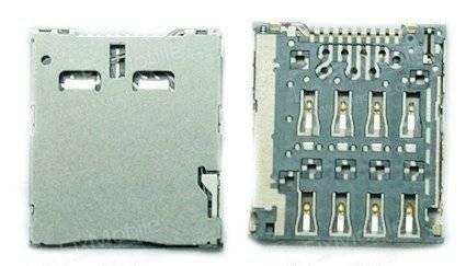 Коннектор SIM для Alcatel Ido l Ultra (6033X)