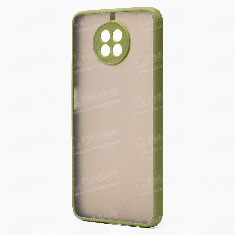 Чехол-накладка PC041 для Xiaomi Redmi Note 9T (черно-зеленая)