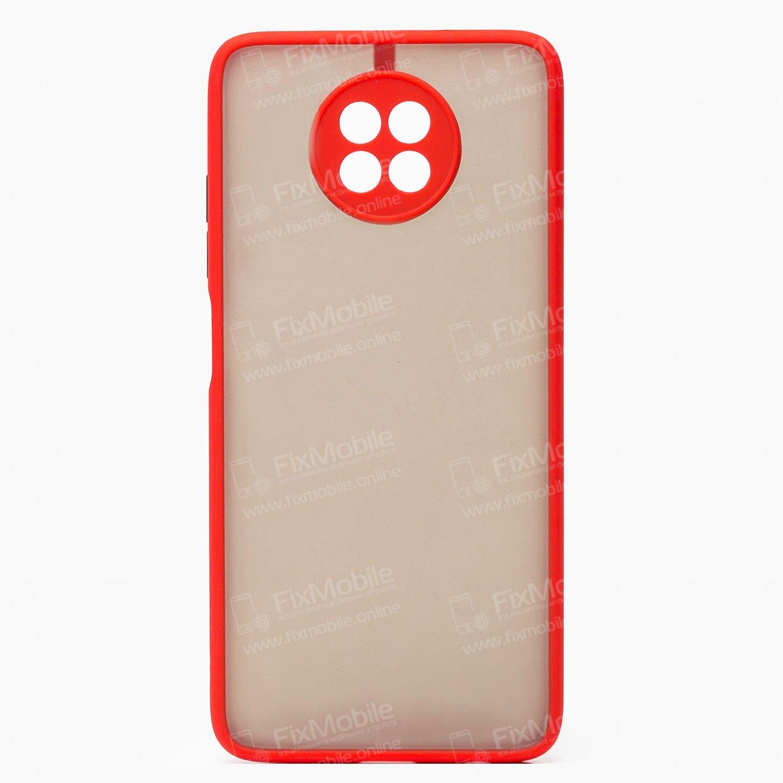 Чехол-накладка PC041 для Xiaomi Redmi Note 9T (черно-красная)