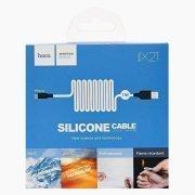 Кабель HOCO X21 Silicone (USB - micro-USB) черно-белый — 2