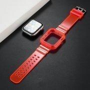 Ремешок для Apple Watch 44 mm прозрачный с кейсом (розовый) — 2